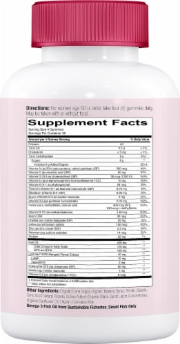 SmartyPants Masters Complete Women's 50 Plus Multivitamin Gummies Perspective: right