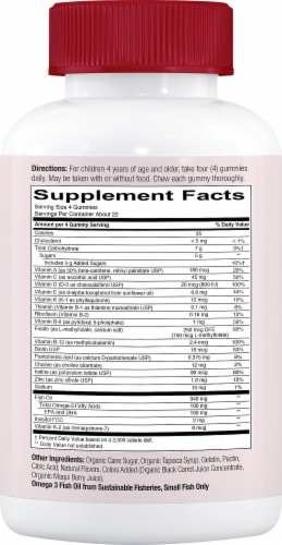 SmartyPants Kids Formula Cherry Berry Multivitamin Perspective: right