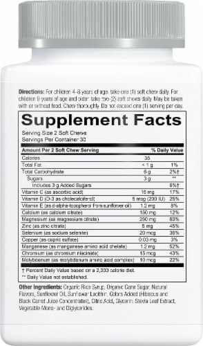 SmartyPants Kids Mineral Complete Mixed Berry Multimineral Chewables - 60 Count Perspective: right