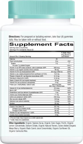 SmartyPants Organic Prenatal Dietary Supplement Gummies Perspective: right