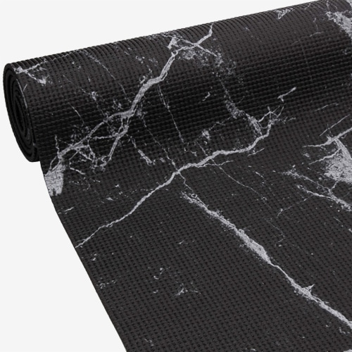 Oak and Reed Non-Slip  Yoga Mat, Black Marble Perspective: right