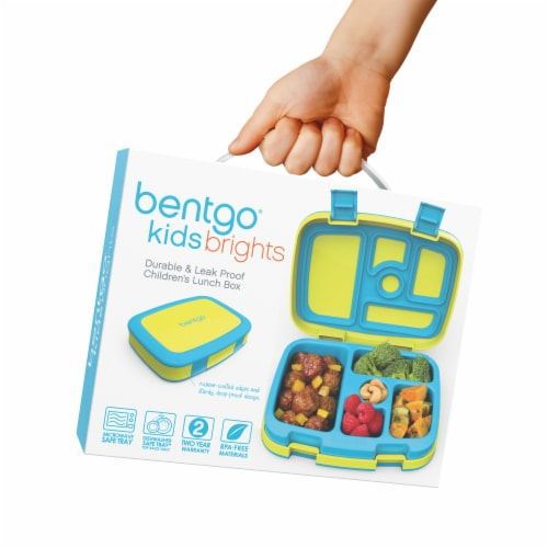 Bentgo Kids Brights Durable & Leak Proof Children's Lunch Box - Citrus Yellow Perspective: right