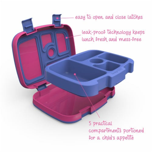 Bentgo Kids Durable & Leak Proof Children's Lunch Box - Fuchsia Perspective: right