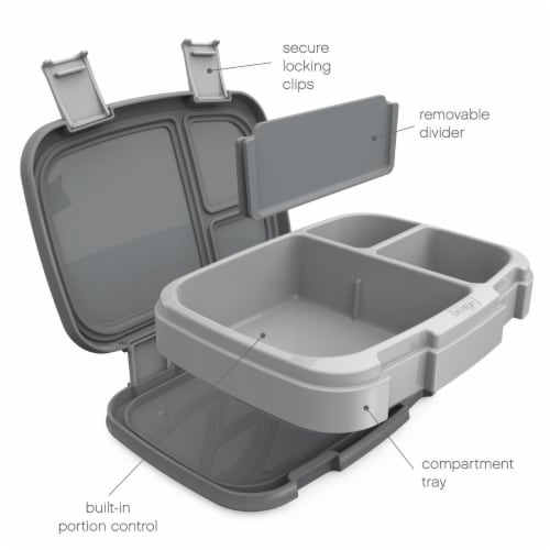 Bentgo Fresh Bento Box - Gray Perspective: right