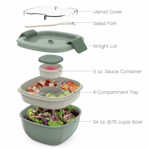 Bentgo Salad On-The-Go Food Container - Slate Perspective: right