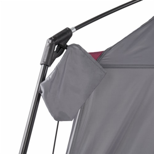 CORE Straight Wall 14 x 10 Foot 10 Person Cabin Tent with 2 Rooms & Rainfly, Red Perspective: right