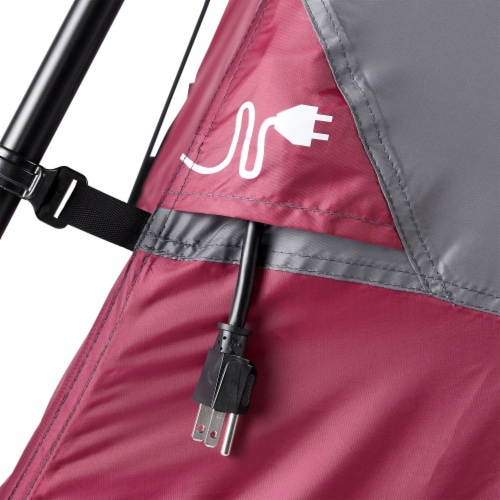 CORE Instant Cabin 11 x 9 Foot 6 Person Cabin Tent with Air Vents and Loft, Red Perspective: right