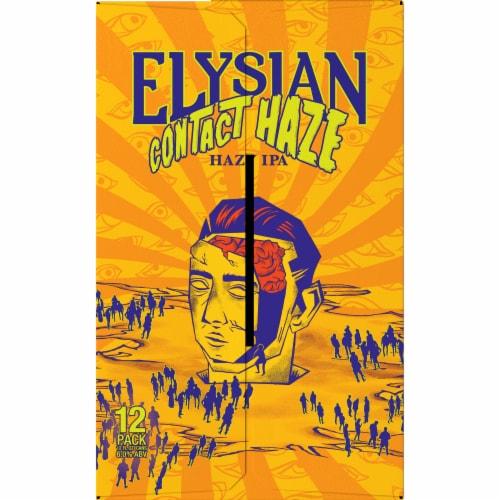 Elysian Brewing Company Contact Haze Hazy IPA Perspective: right