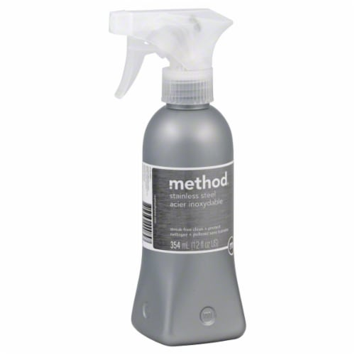 Method Steel For Real Natural Stainless Steel Cleaner Perspective: right