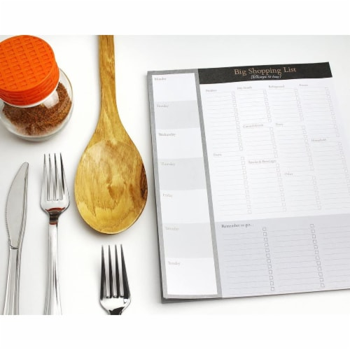 Large Magnetic Grocery, Shopping List Notepads for Fridge (156 Sheets, 3-Pack) Perspective: right