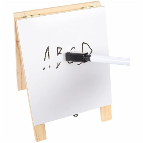 Juvale Small Double Sided Easel, Black Chalkboard & White Dry Erase Boards (5.5 x 7.8 x 1 in) Perspective: right