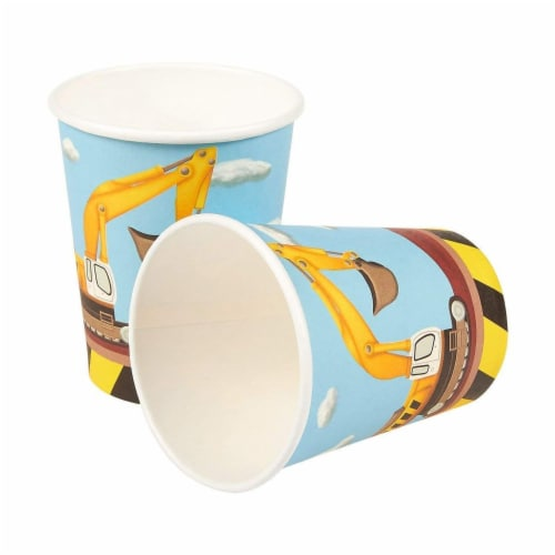Construction Site Party Dinnerware Bundle, Serves 24 Guests (144 Pieces) Perspective: right