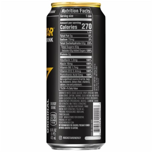 Rockstar Regular Energy Drink Perspective: right