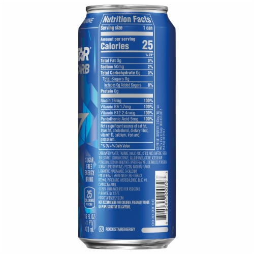 Rockstar Zero Carb Energy Drink Perspective: right