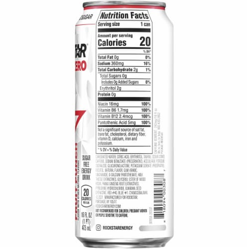 Rockstar Pure Zero Punched Energy Drink Perspective: right