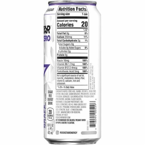 Rockstar Pure Zero Grape Energy Drink Perspective: right