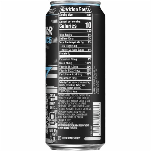 Rockstar XDurance Cotton Candy Energy Drink 16 oz Can Perspective: right