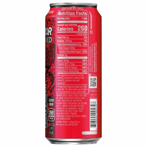 Rockstar Punched Fruit Punch Energy Drink Perspective: right