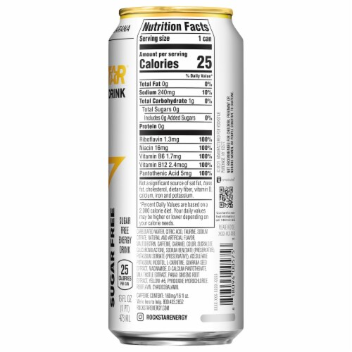 Rockstar Sugar Free Energy Drink Perspective: right