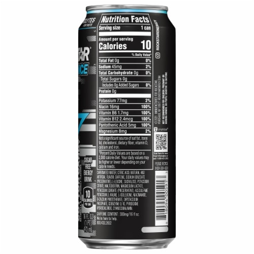 Rockstar XDurance Cotton Candy Energy Drink Perspective: right