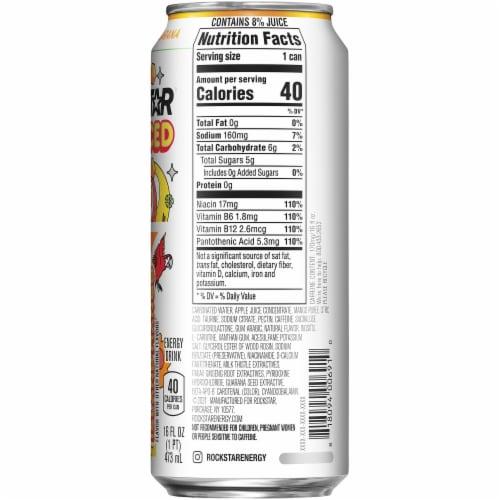 Rockstar Juiced Island Mango Energy Drink Perspective: right