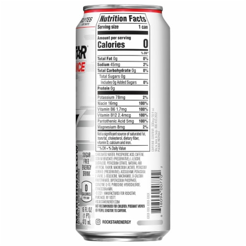Rockstar XDurance Marshmallow Energy Drink Perspective: right