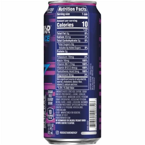 Rockstar XDurance Blue Raz Energy Drink Perspective: right