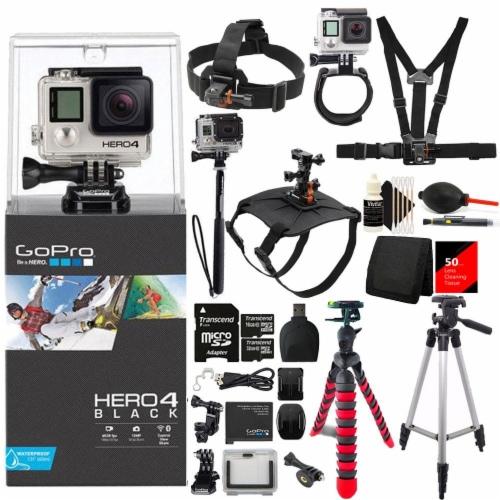 Gopro Hero4 Black Edition Camera Bundle Perspective: right