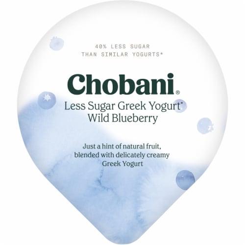 Chobani Less Sugar Wild Blueberry Greek Yogurt Perspective: right