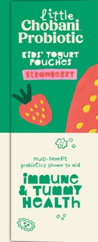 Little Chobani Probiotic Strawberry Kids' Yogurt Pouches Perspective: right