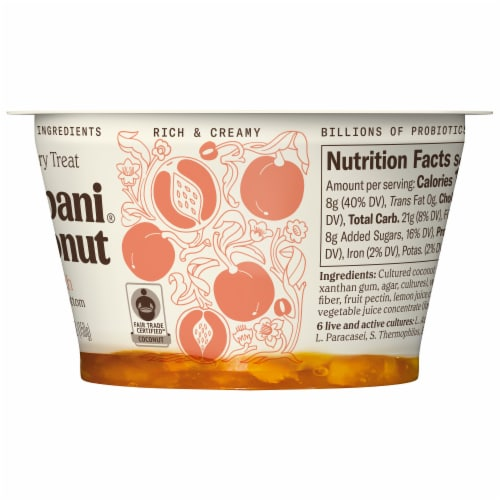 Chobani Coconut Peach Non-Dairy Blend Perspective: right