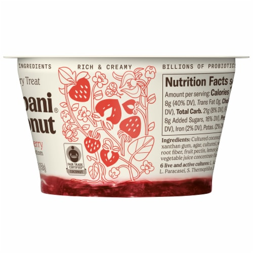 Chobani Coconut Strawberry Non-Dairy Blend Perspective: right