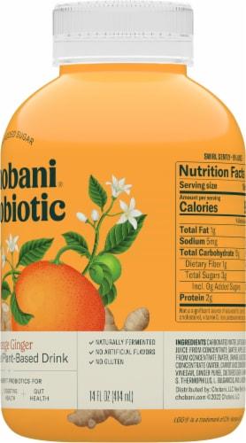 Chobani Probiotic Lemon Ginger Plant-Based Drink Perspective: right