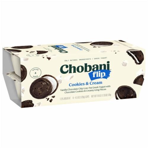 Chobani Flip Cookies & Cream Low-Fat Greek Yogurt Perspective: right