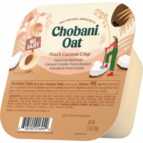 Chobani Peach Coconut Crisp Oat Blend Perspective: right