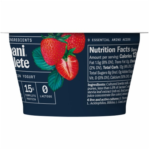Chobani Complete Ultra Cup Strawberry Yogurt Perspective: right
