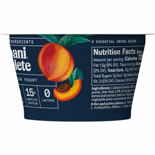 Chobani Complete Peach Lactose-Free Yogurt Perspective: right