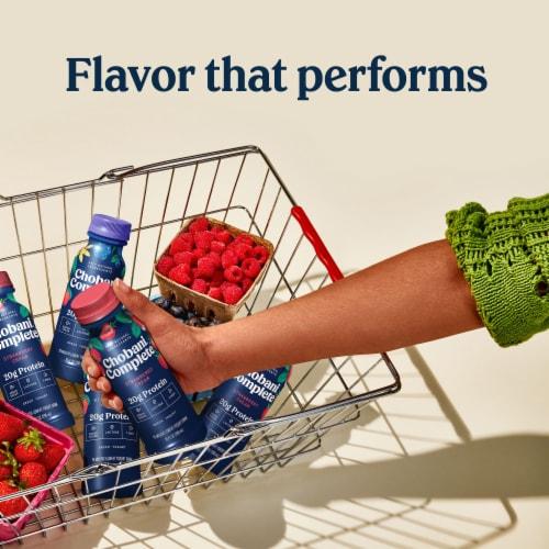 Chobani® Complete Greek Yogurt Strawberry Cream Drink Perspective: right
