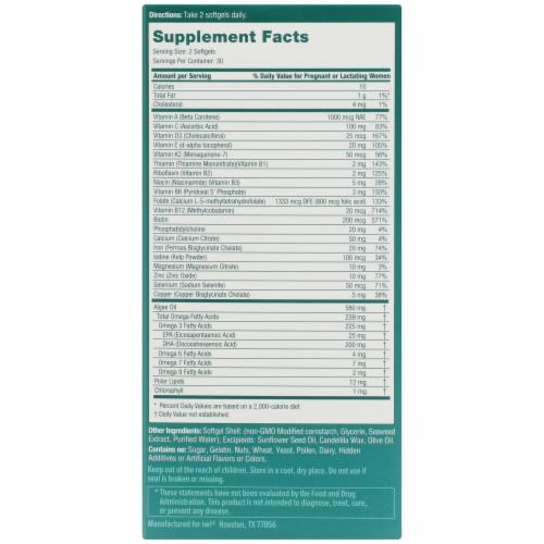 iwi Algae-Based Prenatal Omega-3 + Complete Multivitamin Perspective: right