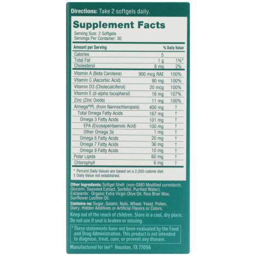 iWi Algae-Based Immunity Omega-3 Supplement Perspective: right