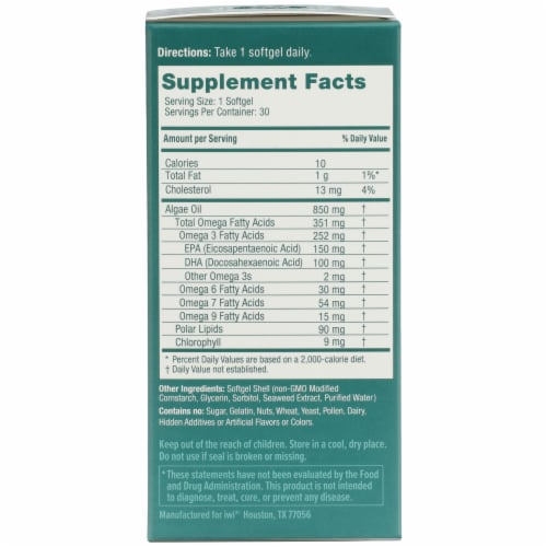 iwi Omega 3 Softgel Capsules 850 mg Perspective: right