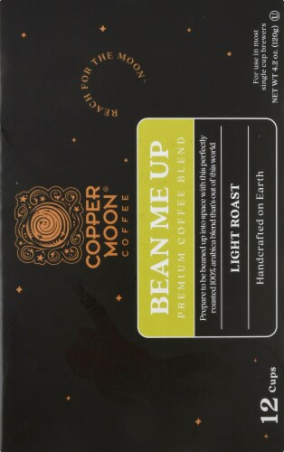 Copper Moon Bean Me Up Light Roast Single Serve Coffee Pods Perspective: right