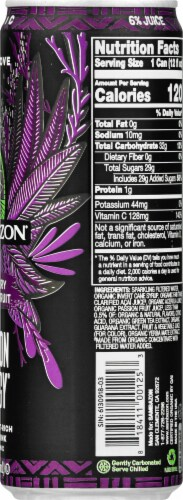 Sambazon Organic Amazon Acai Berry Passion Fruit Jungle Love Energy Drink Perspective: right