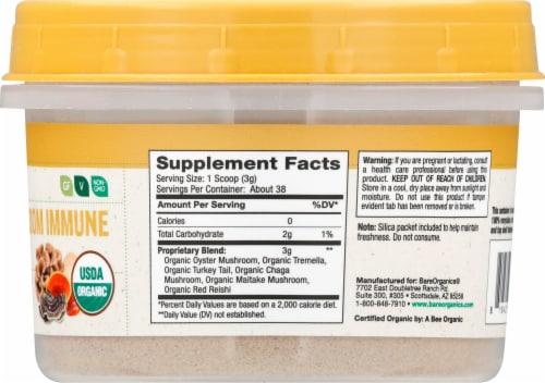 BareOrganics Raw Mushroom Immunity Blend Supplement Perspective: right