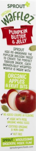 Sprout Organic Wafflez Pumpkin Butter & Jelly Baby Food 5 Count Perspective: right