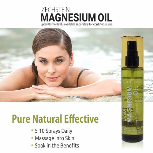 Natural Solution Zechstein Magnesium Oil Spray, No Unhealthy Trace Minerals | 4 Oz Perspective: right