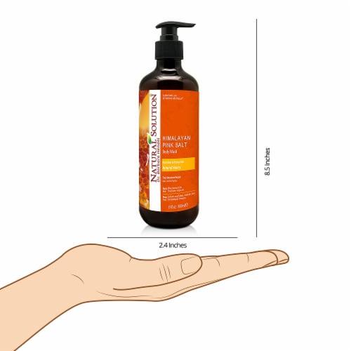 Natural Solution Body Wash, Repair Skin with Himalayan Pink Salt & Natural Honey - 17 oz Perspective: right