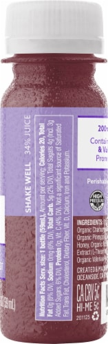 Suja Organic Chamomile & Valerian Root Relax Juice Shot Perspective: right