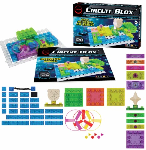 E-Blox Circuit Blox LED Colorful Building Set Perspective: right