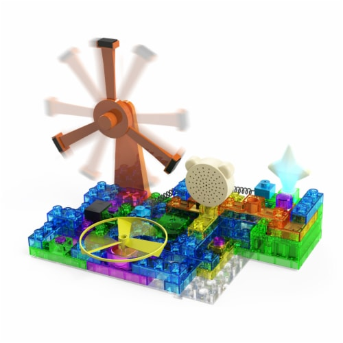 E-Blox Circuit Blox Induction Spinner Building Toy Perspective: right